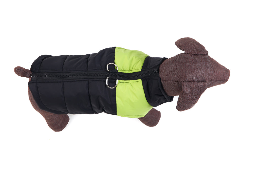 Green Winter Body Warmer for dogs