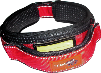 Patento Pet Premium Dog Collar in Red