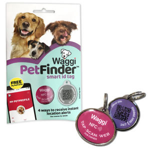 Pet Finder Smart ID Tag by Waggi