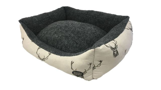 Snug & Cosy Stag Deluxe Rectangular Dog Bed