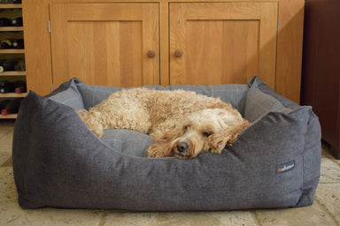 Walksters Buckingham Luxury Dog Bed in Dark Grey