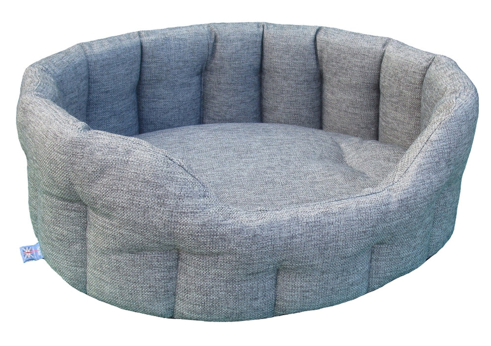 Walksters Oval Premium Dog Bed in Grey