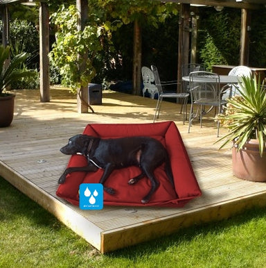 Waterproof Dog Bed in Red