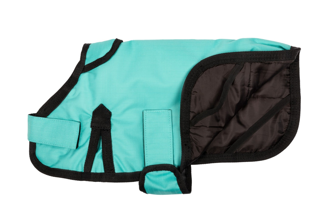 All Seasons Waterproof Dog Coat in Turquoise Blue