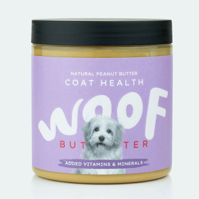 Woof Peanut Butter for Dogs Shiny Coat