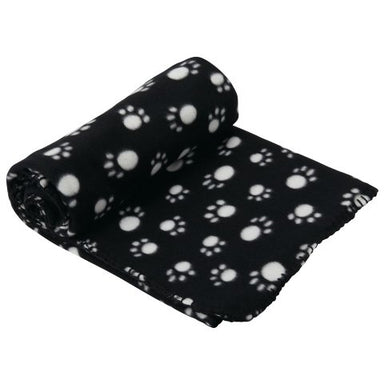 Large pet dog fleece blanket -Black & Cream