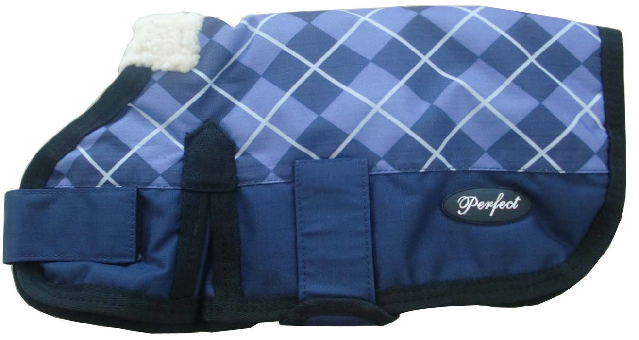 Waterproof Dog Coat Blue Check