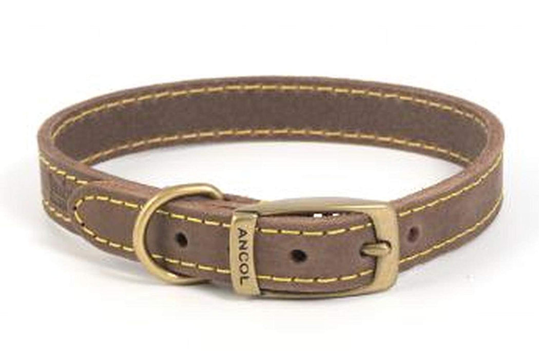 Leather Dog Collar in Brown