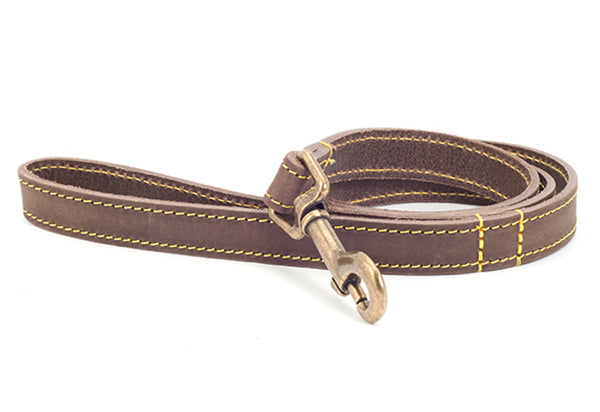 Leather Dog Lead in Brown