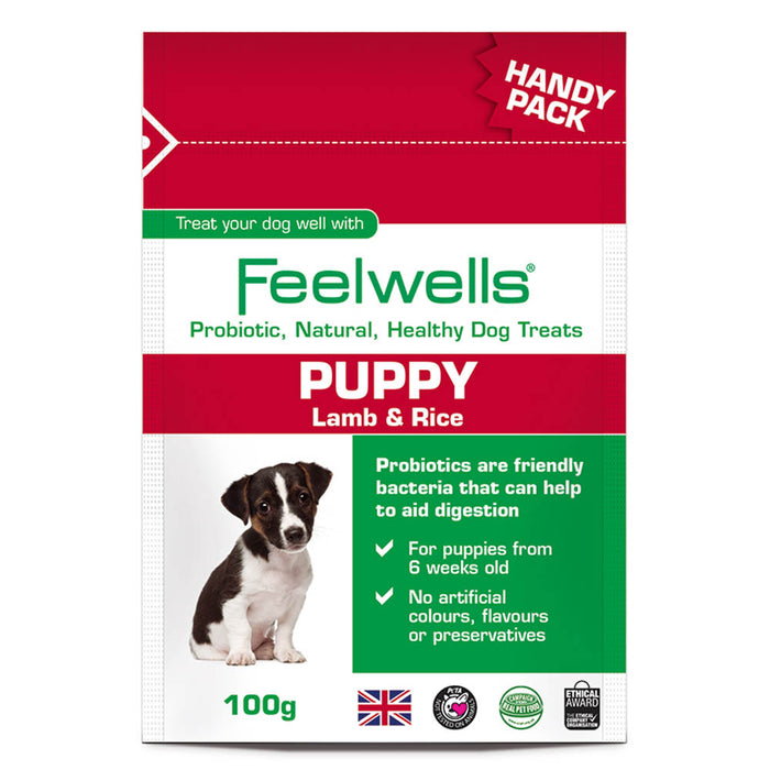 Feelwell's Probiotic Puppy Treats - Lamb & Rice