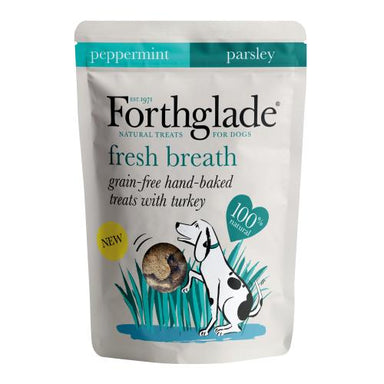 Forthglade Dog Treats for Fresh Breath, with Turkey, Peppermint & Parsley