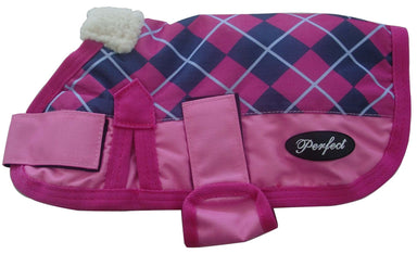 Waterproof Dog Coat Pink Check