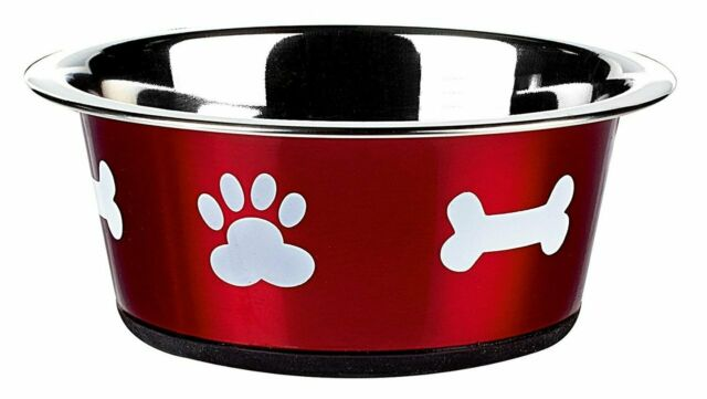 Stainless Steel Dog Bowl Bones Design