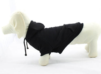 Dog Hoodie in Black