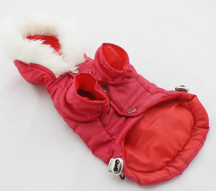 Red Parka- with lead hole