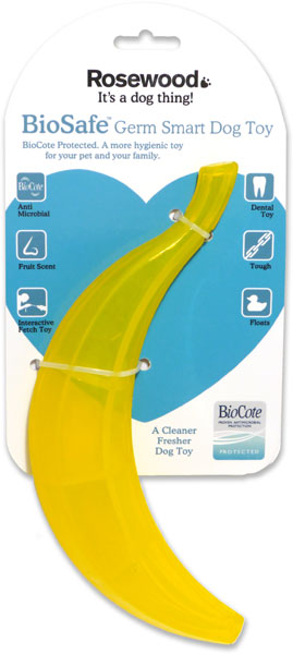 Bio Safe Germ Smart Banana Dog Toy