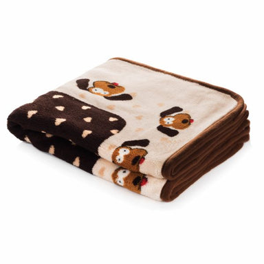 Snuggle Pup Blanket in Cream & Brown