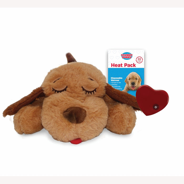 Snuggle Puppy Bundle - Soft Biscuit Dog + 6 Heatpacks