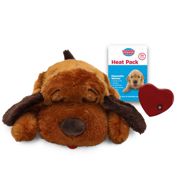 Snuggle Puppy Dog Comforter w/ Heartbeat in Soft Brown