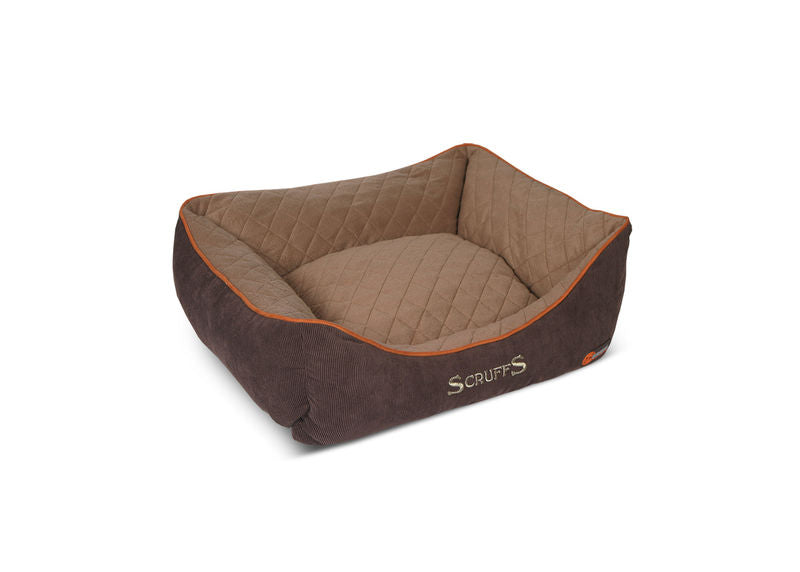 Thermal Self Heating Dog Bed in Brown