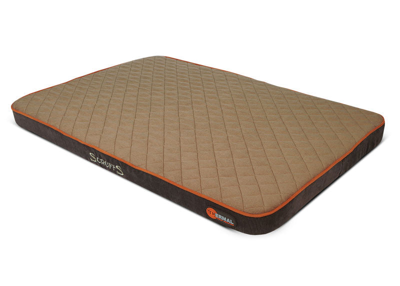 Thermal Self Heating Mattress Dog Bed in Brown