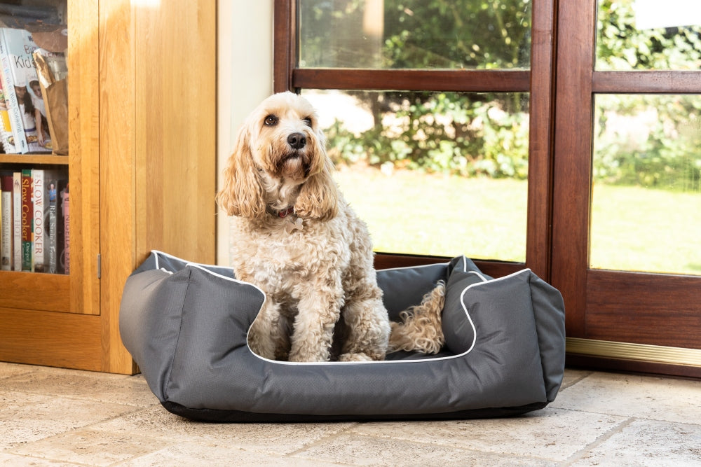 Ultimate Memory Foam Grey Waterproof Dog Bed