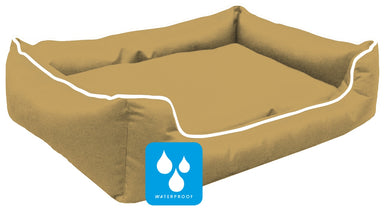 Ultimate Memory Foam Beige Waterproof Dog Bed