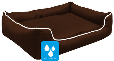 Ultimate Memory Foam Brown Waterproof Dog Bed