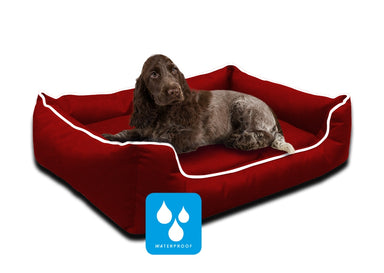 Ultimate Memory Foam Red Waterproof Dog Bed