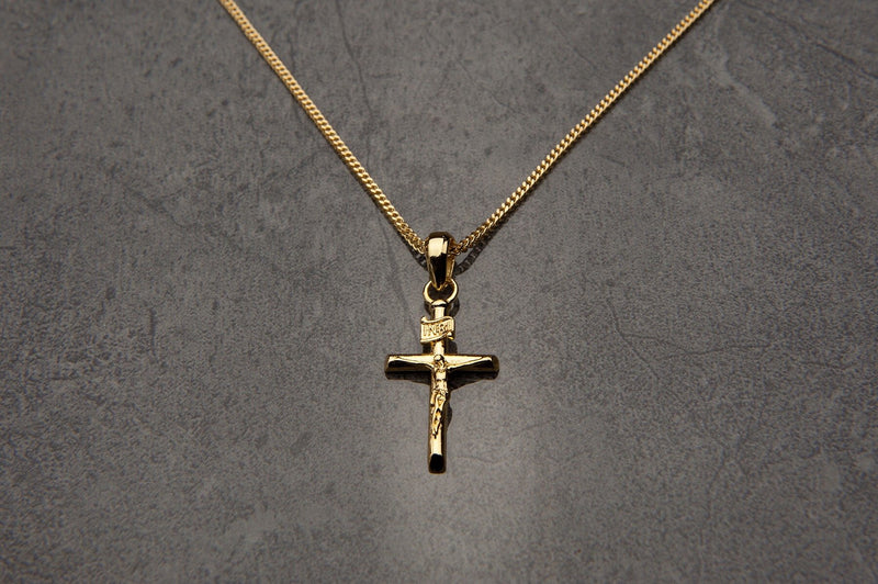 Crucifix Pendant - (Gold)