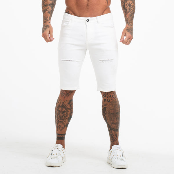 Diamond White Muscle Fit Shorts