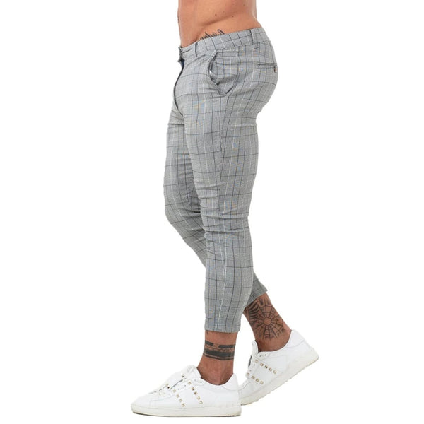 Plaid Chino - 3/4 Length