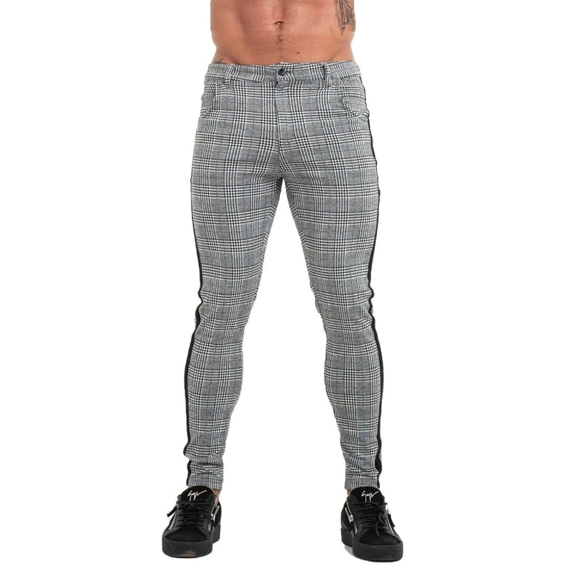Plaid Chino - Black Taper