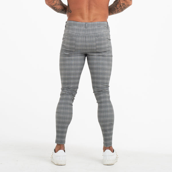 Plaid Chinos - Muscle Fit
