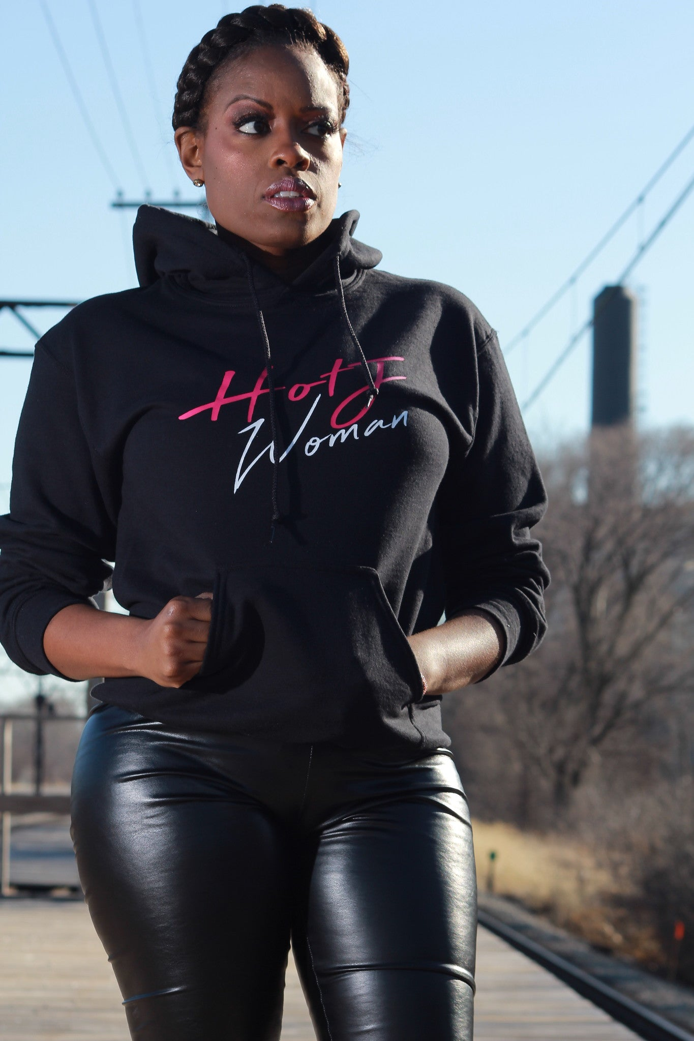 HOTJ Woman Sweatshirt Black