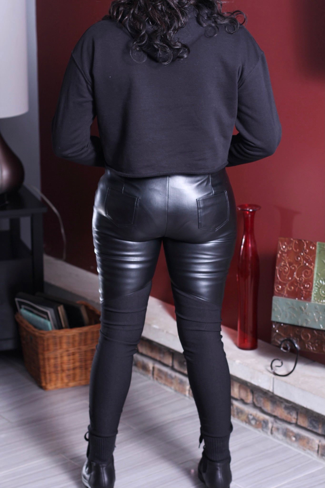 Grease Lightning Faux Leather Leggings