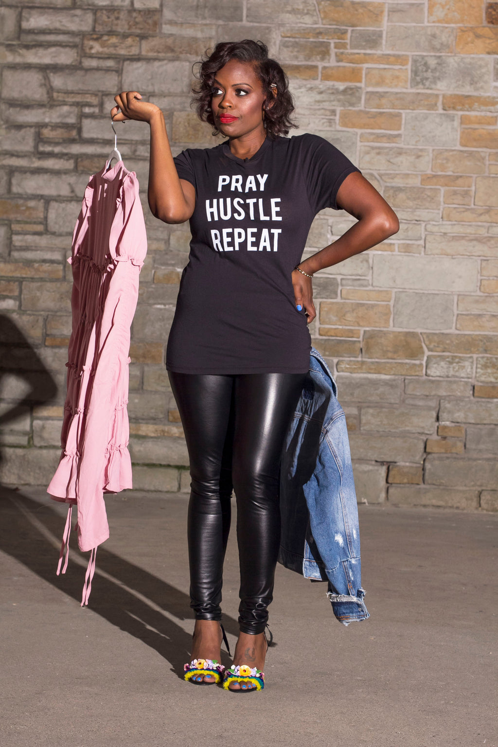 Pray Hustle Repeat Tee