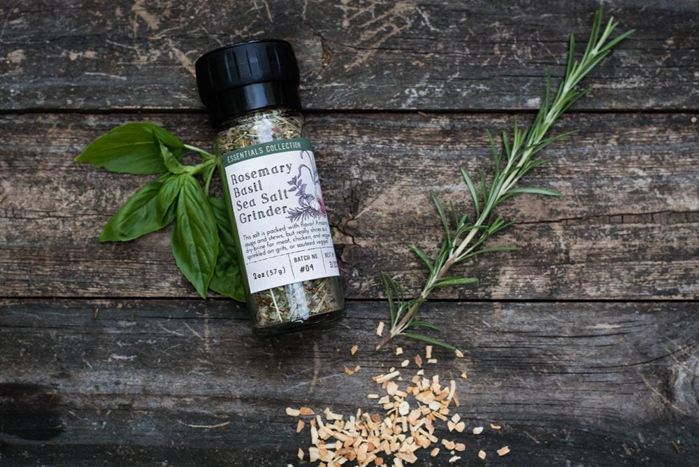 Rosemary Basil Sea Salt Grinder