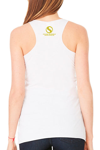 Shredded BODYSHRED Racerback— White Fleck
