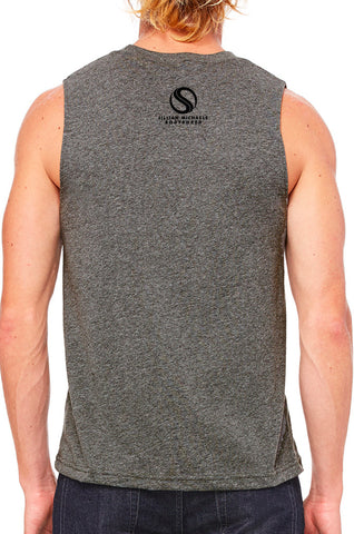 BODYSHRED Jersey Muscle Tank— Deep Heather Grey