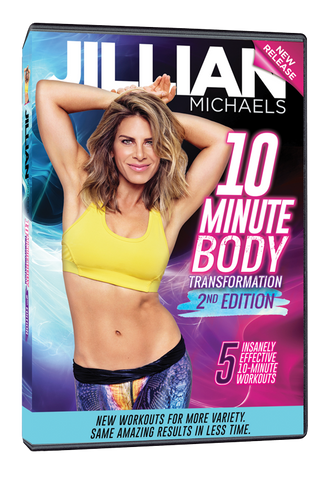 Jillian Michaels '10 Minute Body Transformation 2nd Edition' DVD