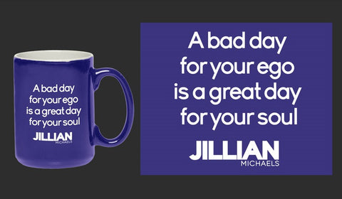 Bad Day 15oz Coffee Mug – Cobalt Blue with White Liner