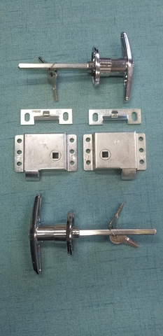 Rear Double T Slam Latch for Galley Door