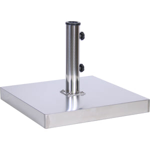 "50 lb. Base 1 9"" Diameter Stainless Steel/Cement Filled (Square).  Available in: Champagne, Silver"
