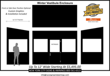 Load image into Gallery viewer, 12' Wide Winter Vestibule Enclosure