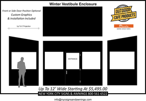 12' Wide Winter Vestibule Enclosure
