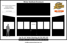 Load image into Gallery viewer, 16' Wide Winter Vestibule Enclosure