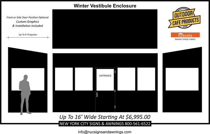 16' Wide Winter Vestibule Enclosure
