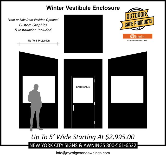 5' Wide Winter Vestibule Enclosure