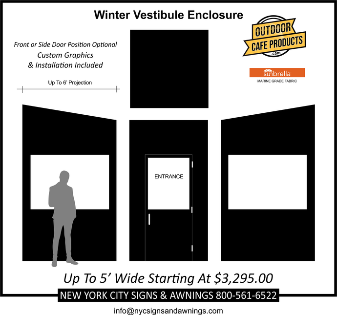 5' Wide Deluxe Winter Vestibule Enclosure